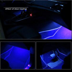 Blue LED Car Interior Accessories Floor Decora Atmosphere Strip Lamp Lights