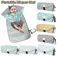 Baby Nappy Diaper Bag Changing Mat Waterproof Foldable Portable Handbag Play Pad