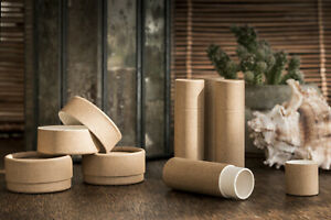 Eco Biodegradable Cardboard Tubes Pots Jars Round Containers Cosmetics Lip Balm
