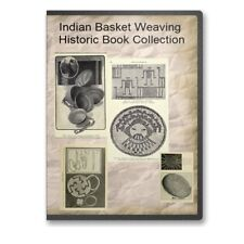 Indian Basket Weaving Basketry Instruction History California 10 Books CD B499