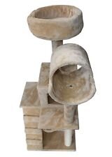 "49"" Cat Tree Tower Condo Scratch Post Kitty Pet House Play Sisal Pole Hammock"