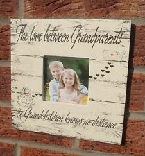 SHABBY Chic VINTAGE I LOVE tra i nostri nipoti nonni MAP PHOTO FRAME