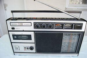 Grundig  C6200 Kofferradio Weltempfänger Cassette defekt Radio gut, mit Netzteil