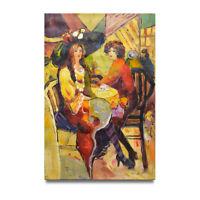 NY Art - High Society Women Enjoying Crumpets & Tea 24x36 Oil Painting on Canvas