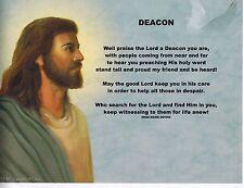 OUR PASTOR Priest Poem Jesus Print Personalized Name DEACON