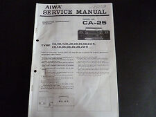 ORIGINALI service manual AIWA ca-25