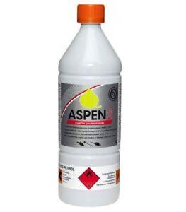 Aspen 2 Alkylate Petrol 1L Can 50:1 Premixed 2 Stroke fuel aspen 2 fuel bottle