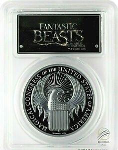 🇨🇰2017 $5 Cook Isles Fantastic Beasts 1 oz. .Silver Proof PCGSPR70DCAM FS🇨🇰