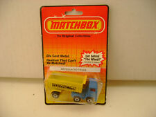 1983 MATCHBOX LESNEY SUPERFAST MB30 LEYLAND ARTICULATED TRUCK NEW O DAMAGED CARD