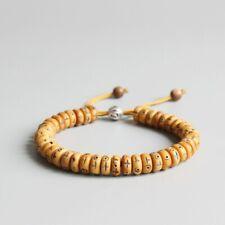 Natural Retro Cross Yak Bone Beads Tibetan Buddhist Hand Braided Bracelet Lucky