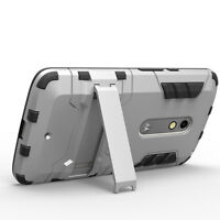 Armor 2 in 1 Soft With silicon hard stand Case Cover For Motorola Moto X Play