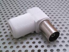 Conector Hembra TV Ø 9,5 mm Acodado - A Rosca Blindado - Conexion De Antena