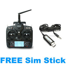 Walkera 7 Channel DEVO 7 RC Transmitter 2.4G +FREE Sim Stick