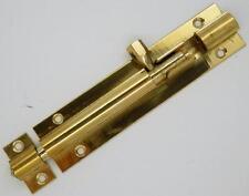 """4""""  BRASS SLIDING DOOR BARREL BOLT 100 x 25mm                        SKUD684X10"""