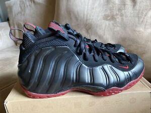 Nike Air Foamposite One black/varsity red Cough drop 314996 006 Men's sz 10.5 DS