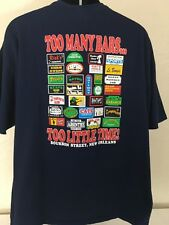 New Orleans Drinking Shirt Men's Short Sleeve Cotton Navy Blue Tee Shirt XXL