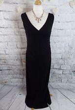 "Long Tall Sally black maxi dress 10 12 long bust 36"" drapes beautifully party"