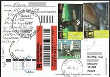 Space mail flown post card from United Nations post office to Space Station