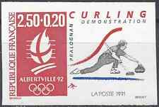 JEUX OLYMPIQUES JO N°2680 TIMBRE NON DENTELÉ IMPERF 1991 - NEUF ** LUXE MNH