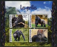 NIGER 2016 GORILLA  SHEET MINT NEVER HINGED