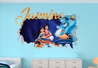 Princess Jasmine Custom Vinyl Lettering Stickers Wall Decals Name Art MAR347