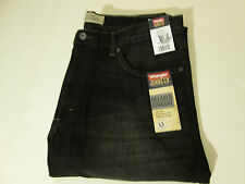 36 X 32 WRANGLER RELAXED STRAIGHT FIT JEANS -BLACK-  NWT