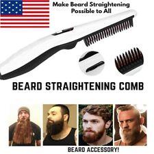Electric Quick Beard Straightener Hair Comb Curling Curler Show Cap for Men