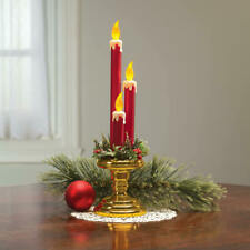 Flameless Flickering Triple Light Candolier Christmas Table Centerpiece