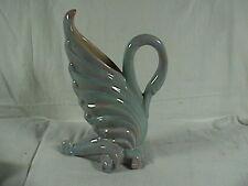 Royal Haeger Swan Vase Blue/Green Opalescent