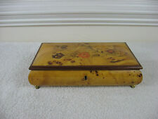 Vintage Sorrentino Hand Inlaid Wooden Jewelry Box Italy~Reuge Doctor Zhivago