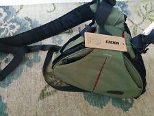 New Caden K1 Professional Triangle Crossbody Shoulder DSLR Camera Bag - Green