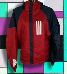 Women's ADIDAS W.N.D. Water-Repellent Ventilated Jacket size M active maroon