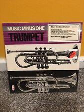 Music Minus One Trumpet Dixieland Jazz Dixie Clarinet Tenor Sax Mmo 4021 Book Lp