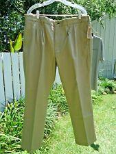Duluth Trading Co KHAKI COMFORT WAIST PLEATED CHINOS PANTS 40X28