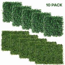 "10pcs Artificial Faux Leaf Privacy Grass Fence Panel Boxwood Mat 10""x10"" 24""x16"""