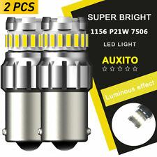 46W 1156 7506 HID White LED Reverse Back Up Tail Brake Signal Light Bulb 2400LM