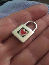 Tiffany & Co Red Enamel Heart Padlock