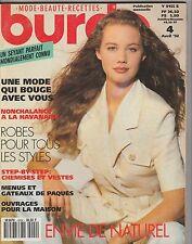 Magazine Burda N°4 Avril 1992 patrons couture