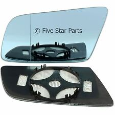 BMW 5 E60 6 Series Passenger wing mirror glass 03-10 side Wide Angle Heated Blue