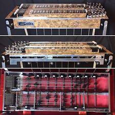 SIERRA D-10 DOUBLE NECK 8&4 PEDAL STEEL GUITAR w/ CASE