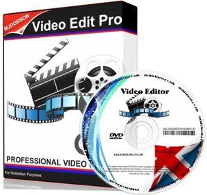 VIDEO EDITING SOFTWARE on CD - WINDOWS 10 8 7 32 & 64 bit AND MAC FREE POST