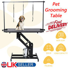 UK Extra Large Hydraulic Dog Grooming Table Station H Bar Arm 3 Leash Heavy Duty