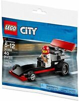 LEGO City: Dragster with Minifigure (30358) NIP Exclusive Polybag 2018 Set
