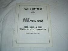 New Idea 3810 3816 3825 solid plus manure spreader parts catalog manual