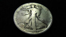 1918-D LIBERTY WALKING SILVER HALF DOLLAR GOOD CONDITION (SEE PICTURES)