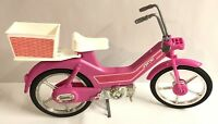 Mattel Barbie Doll Motor Bike 1983 Vintage Toy Pink Bicycle