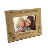 Personalised Fairy Godmother Photo Frame Gift FW154
