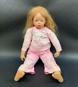 alte antik Donna Rubert Puppe Porzellan  german doll 80cm 23N6
