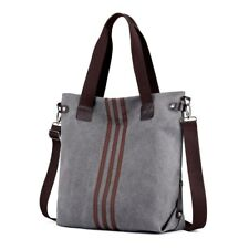 Canvas Vintage Women Handbags Shoulder Crossbody Messenger Bag Tote Bags Grey
