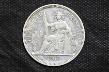 French Indo-china 1888A Piastre Silver Coin ( Weight : 27.00 g ) C126